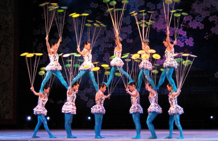 Akrobatyczny pokaz w Pekinie