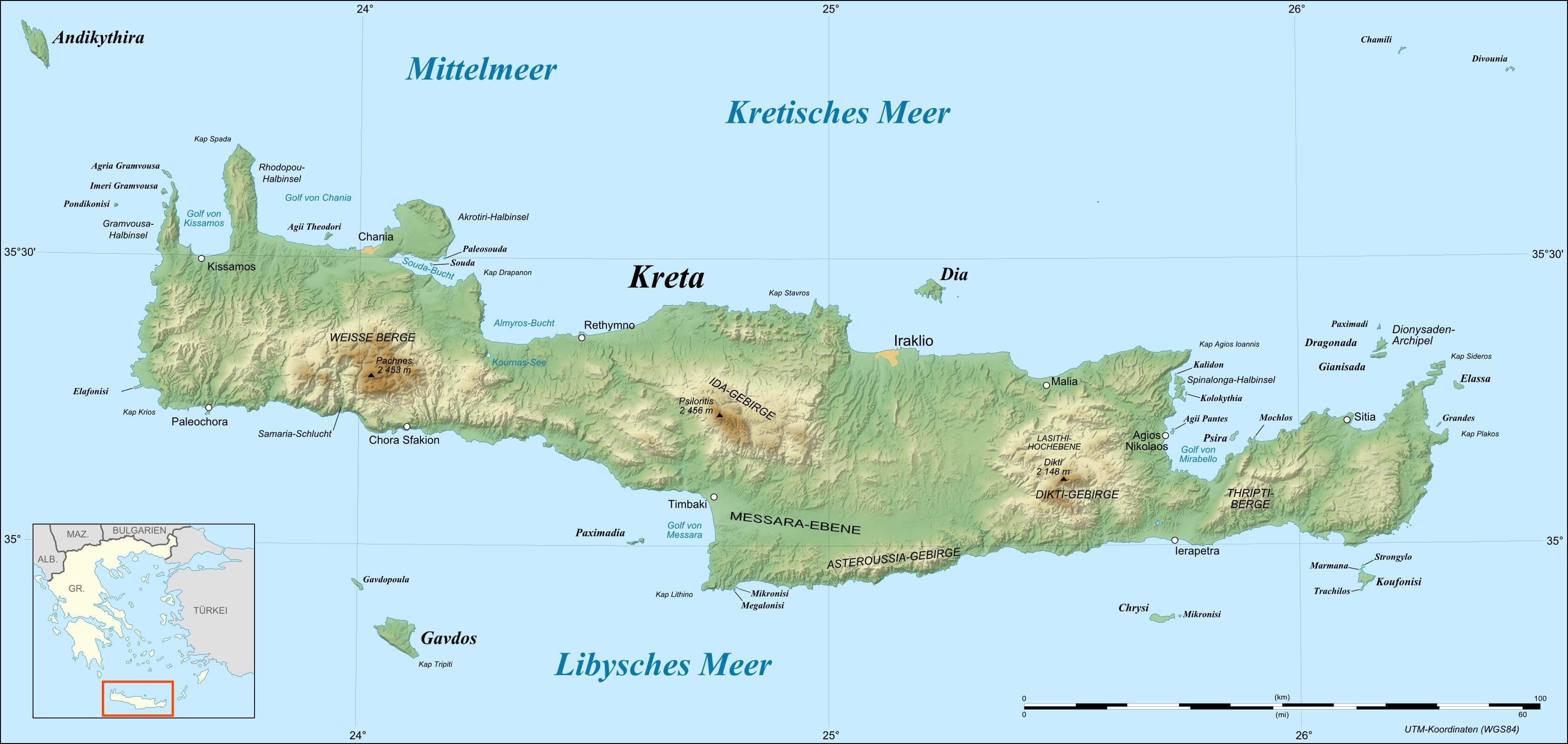 Mapa-Kreta