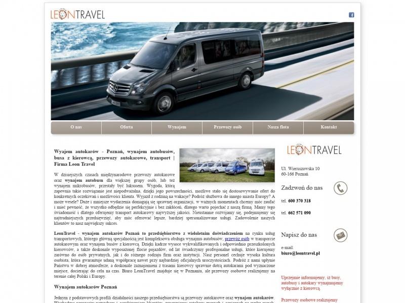 Wynajem busów i autobusów - LeonTravel