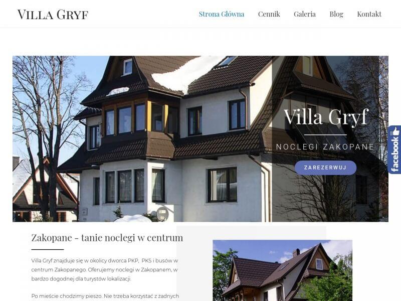 Zakopane noclegi - Villa GRYF - prywatna kwatera w centrum Zakopanego