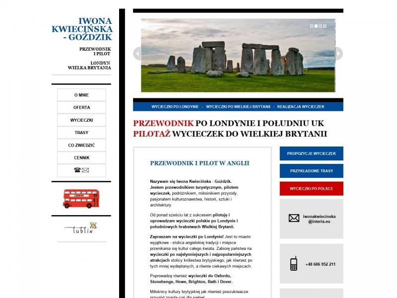 Iwona Kwiecińska - Goździk Usługi przewodnickie i pilotażowe