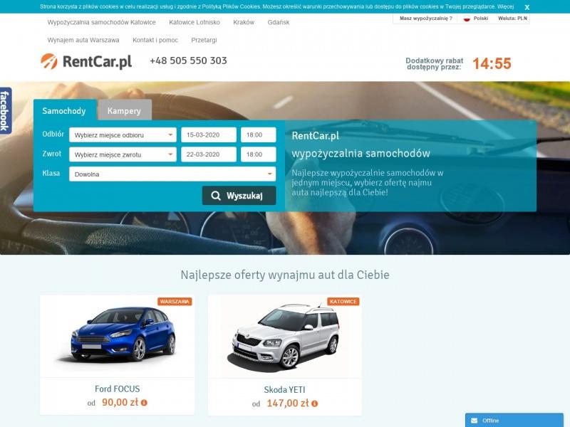 Wypożyczalnia samochodów Poznań - RentCar.pl