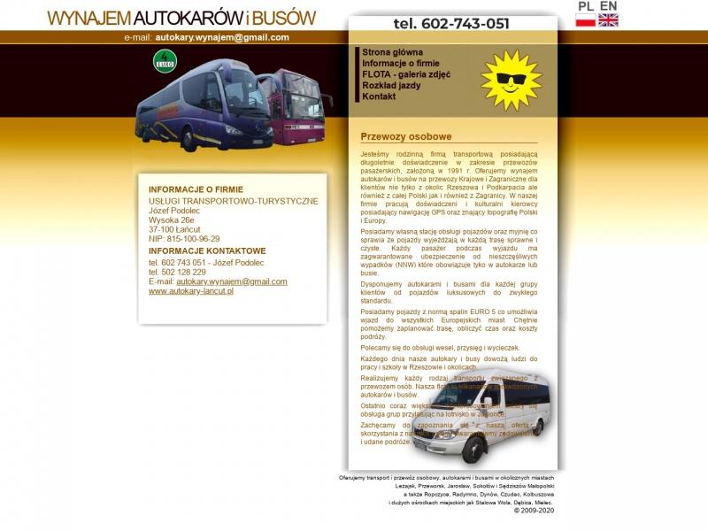 Usługi Transportowo-turystyczne Józef Podolec