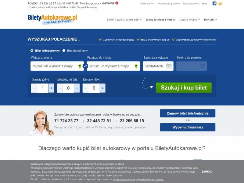 BiletyAutokarowe.pl - Wszystkie firmy przewozowe pod jednym adresem.
