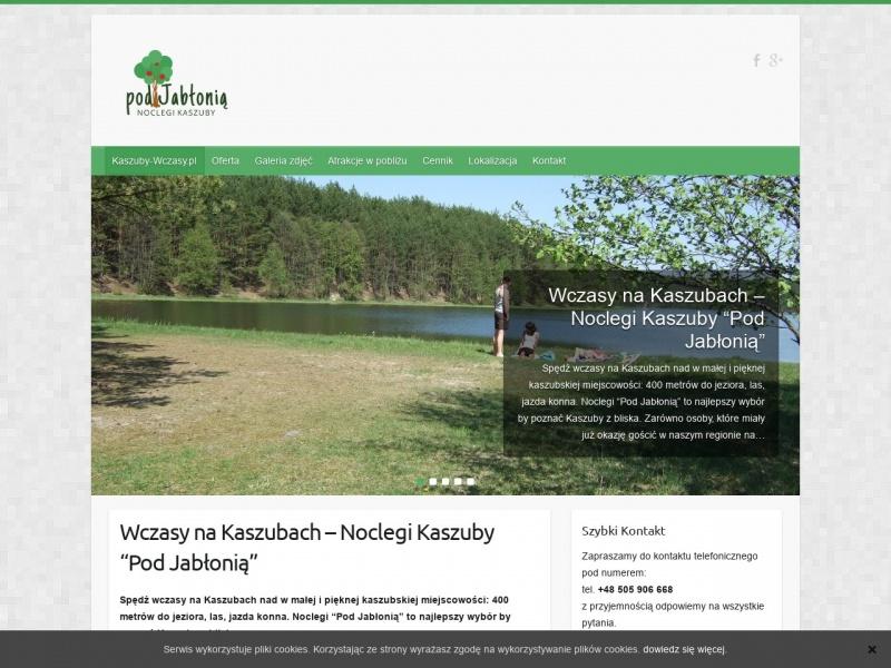Domek na Kaszubach nad jeziorem