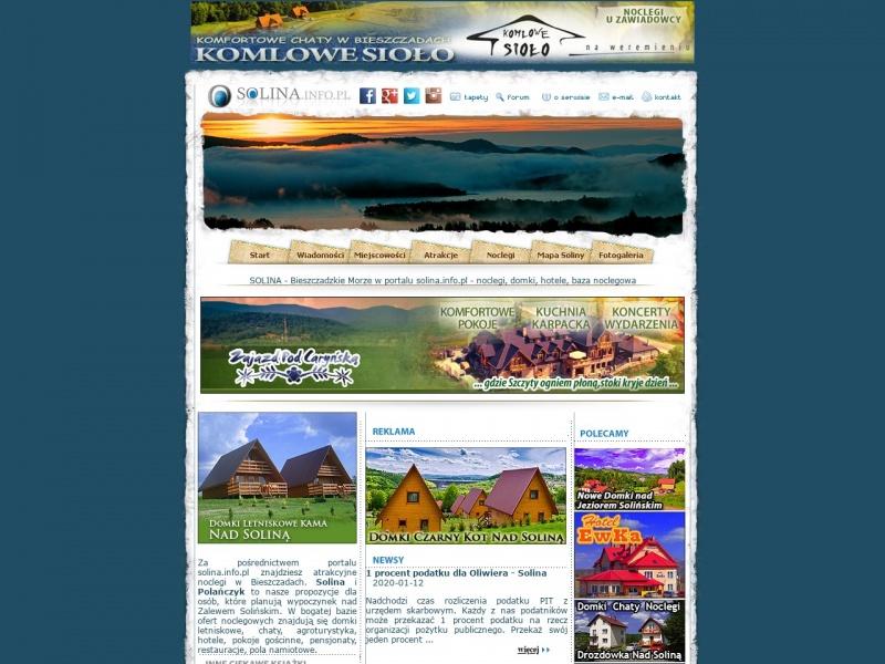 Solina Noclegi - Bieszczady Domki Portal Turystyczny