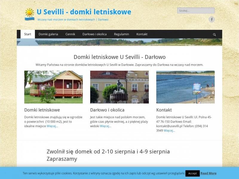 "Domki lentiskowe nad morzem ""U SEvilli"""